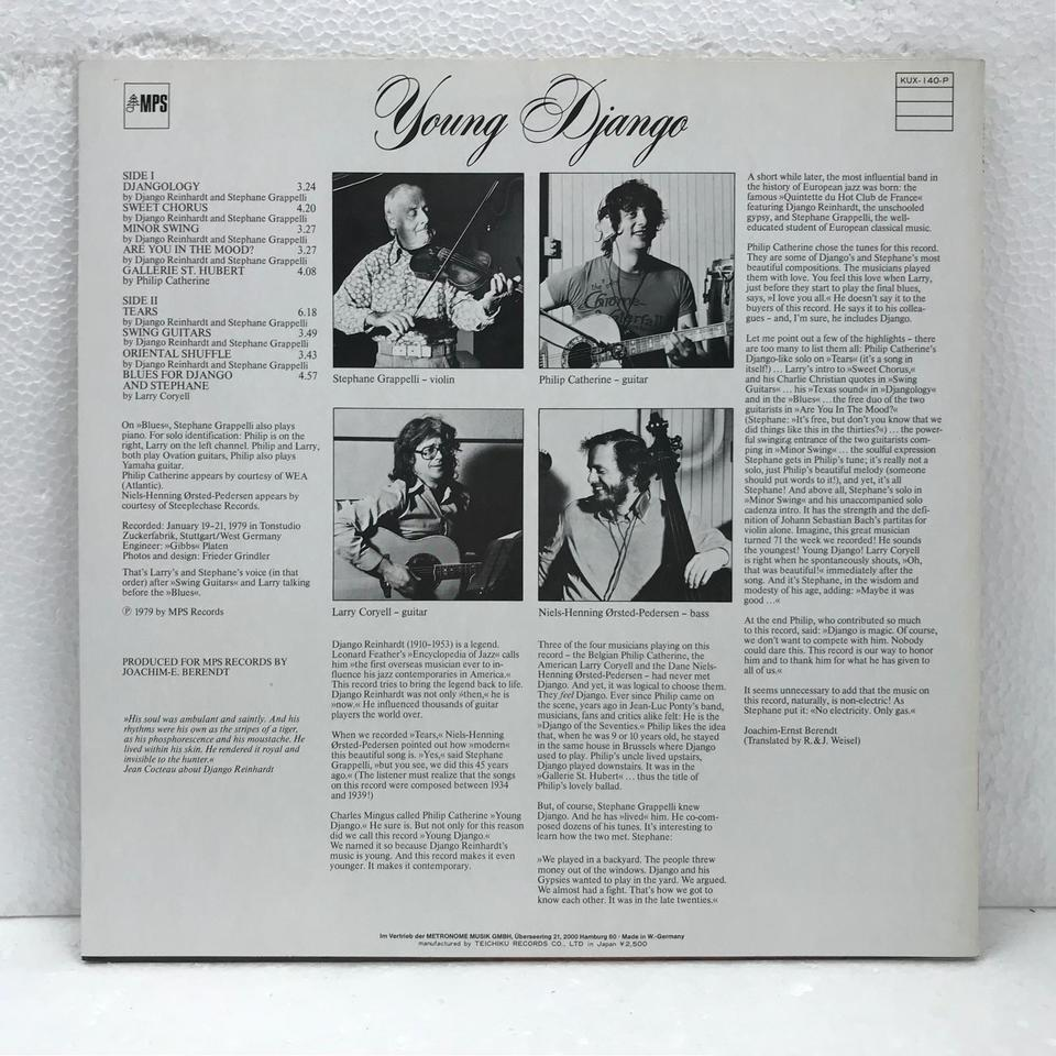 YOUNG DJANGO/STEPHANE GRAPPELLI STEPHANE GRAPPELLI 画像