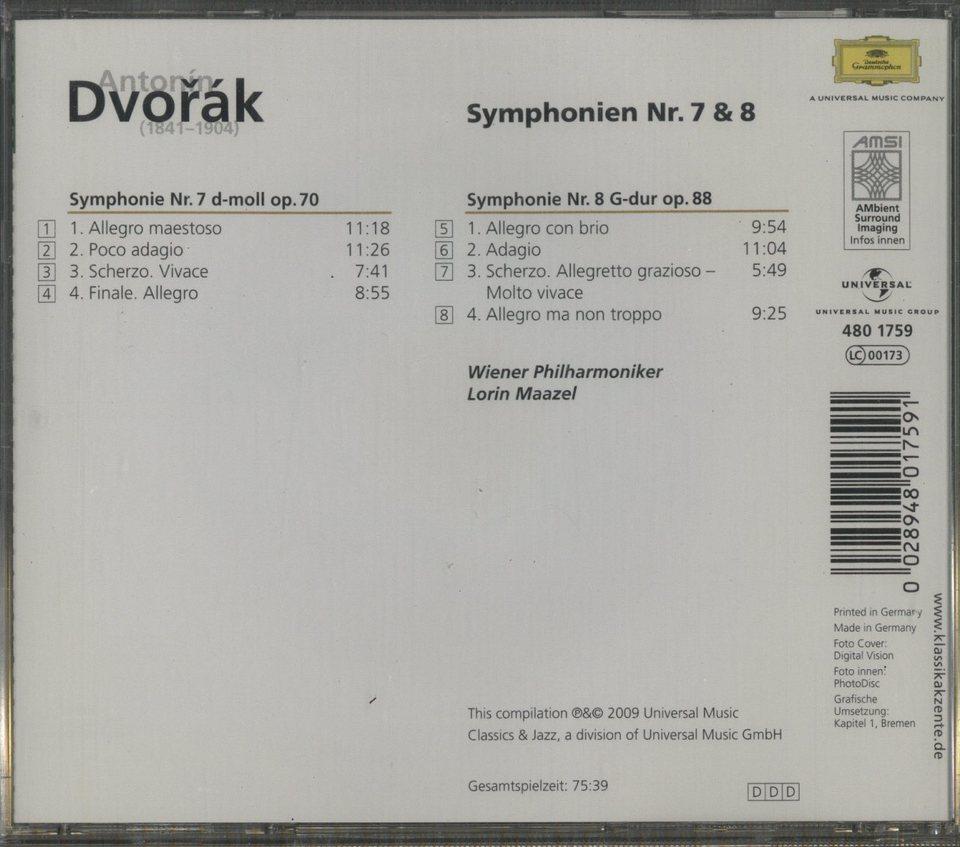 ドヴォルザーク:交響曲第7番、第8番 ドヴォルザーク 画像
