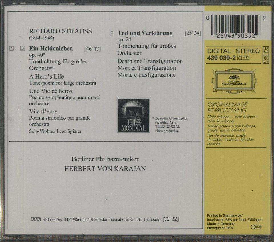 R.シュトラウス:交響詩「英雄の生涯」「死と変容」 R.シュトラウス 画像