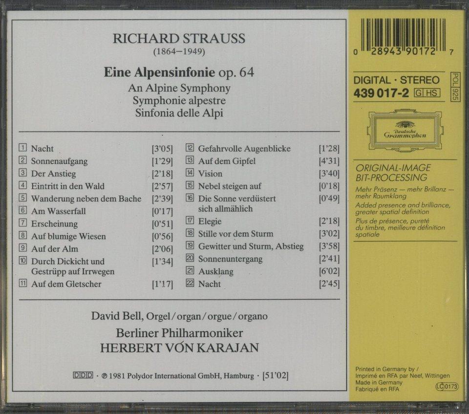 R.シュトラウス:アルプス交響曲 R.シュトラウス 画像