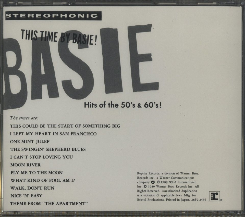 THIS TIME BY BASIE HITS OF THE 50s AND 60s  COUNT BASIE 画像