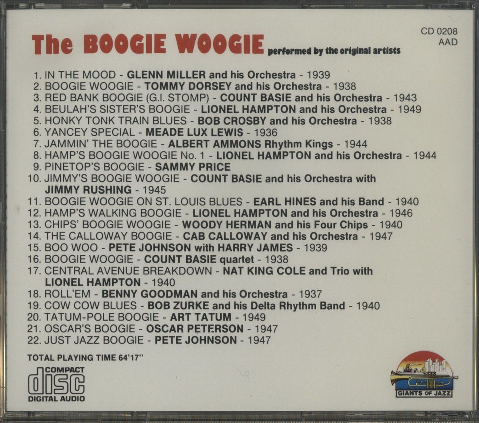 THE BOOGIE WOOGIE V.A. 画像