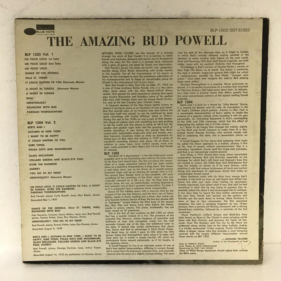 THE AMAZING BUD POWELL VOL.1 BUD POWELL 画像