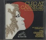 CLEO AT CARNEGIE - THE 10TH ANNIVERSARY CONCERT/CLEO LAINE
