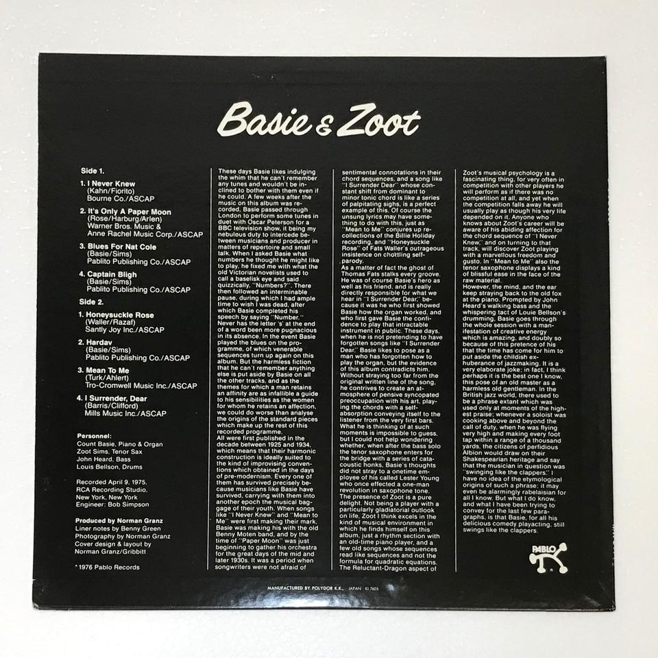BASIE & ZOOT COUNT BASIE & ZOOT SIMS  画像