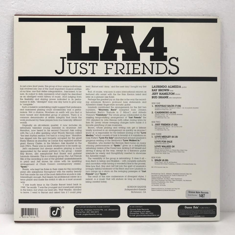 JUST FRIENDS/LA4 L.A.4 画像