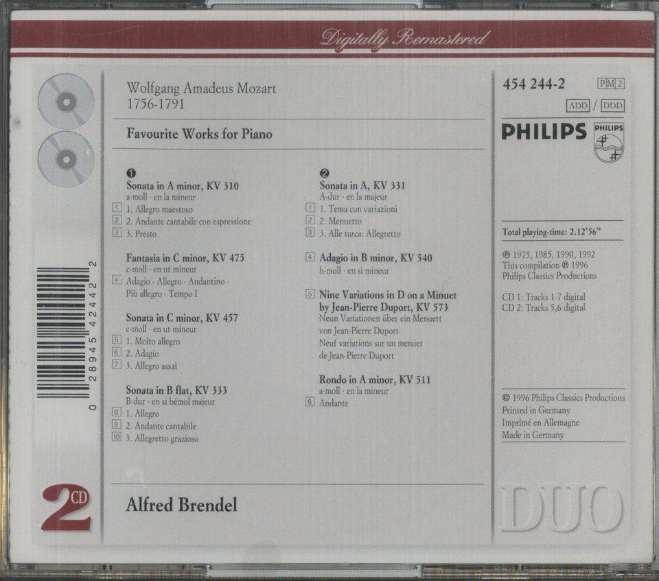 モーツァルト:ピアノ作品集 モーツァルト 画像
