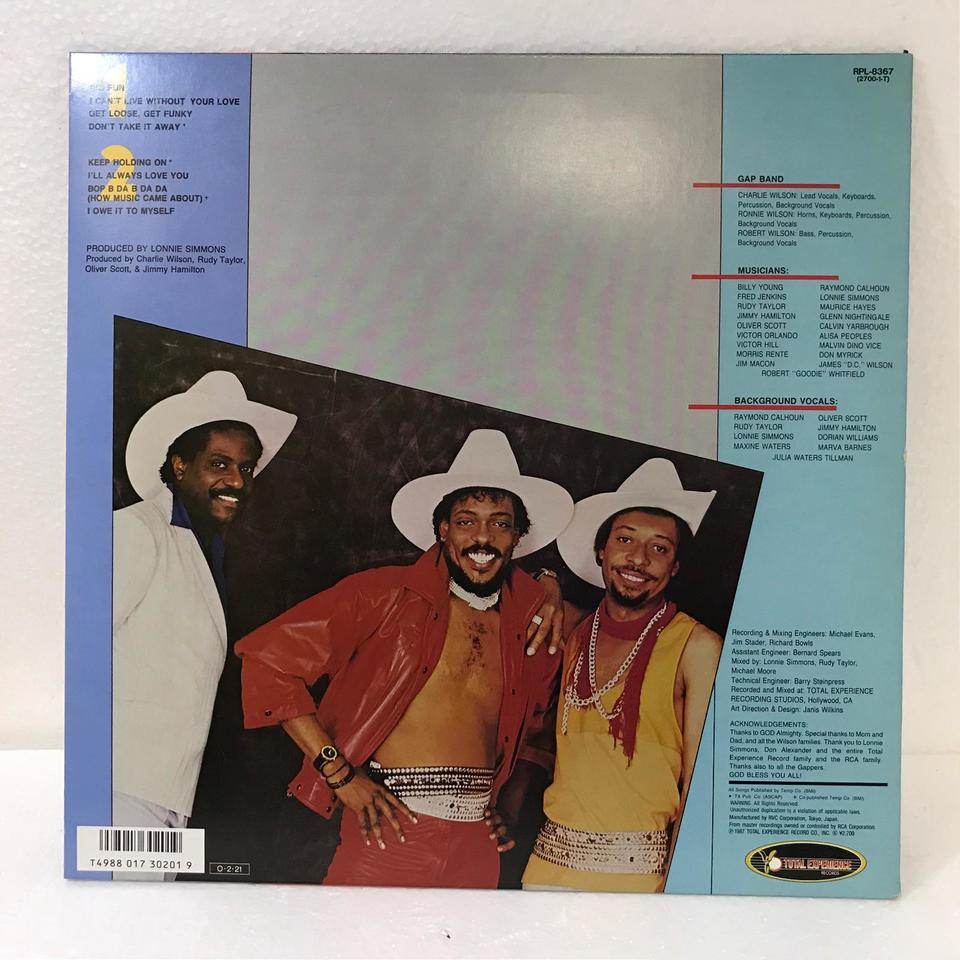 8/THE GAP BAND THE GAP BAND 画像