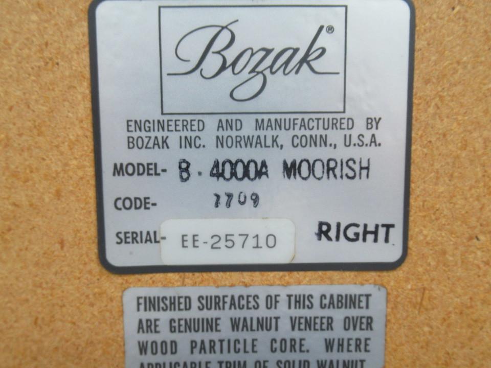 B-4000A MOORISH BOZAK 画像