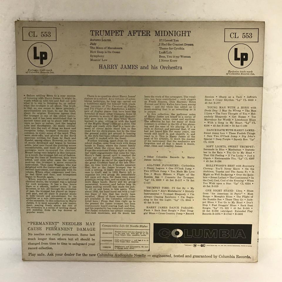 TRUMPET AFTER MIDNIGHT/HARRY JAMES HARRY JAMES 画像