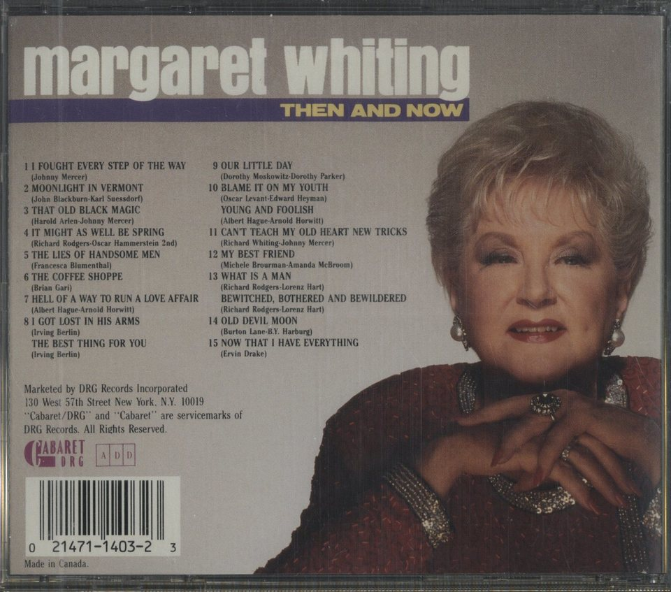 THEN AND NOW/MARGARET WHITING MARGARET WHITING 画像