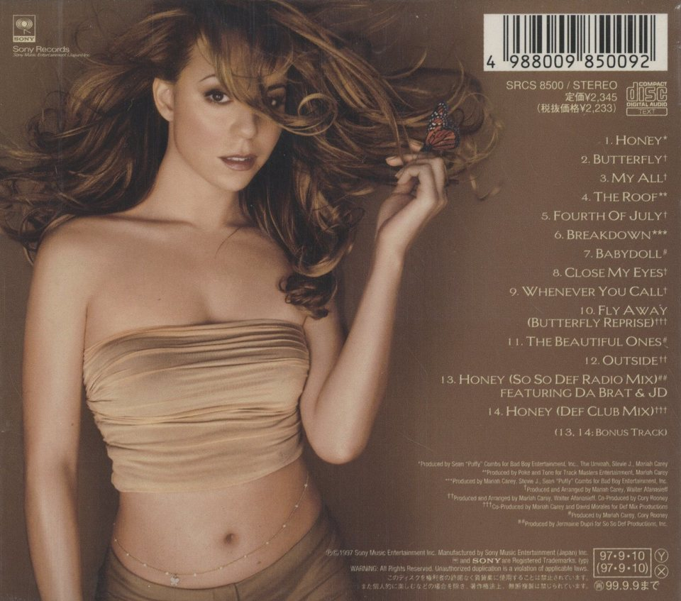 BUTTERFLY/MARIAH CAREY MARIAH CAREY 画像