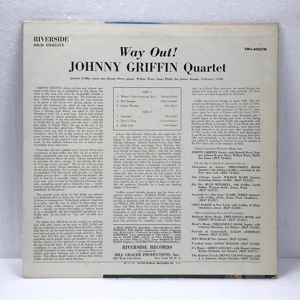 WAY OUT !/JOHNNY GRIFFIN JOHNNY GRIFFIN 画像