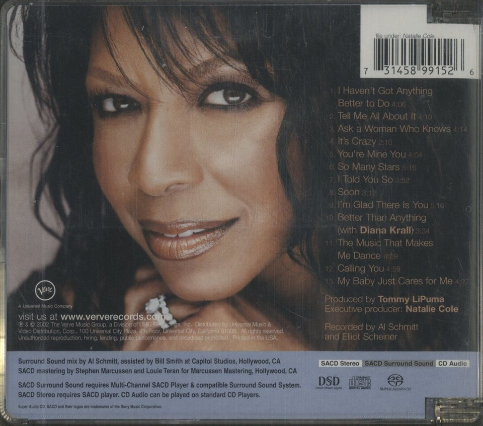 ASK A WOMAN WHO KNOWS/NATALIE COLE NATALIE COLE 画像