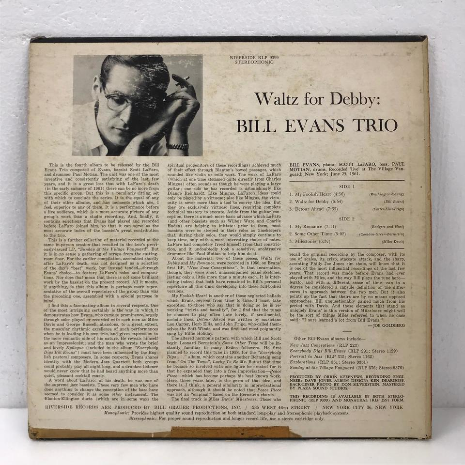 WALTZ FOR DEBBY/BILL EVANS BILL EVANS 画像
