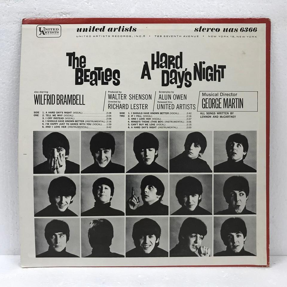 A HARD DAY'S NIGHT/THE BEATLES THE BEATLES 画像