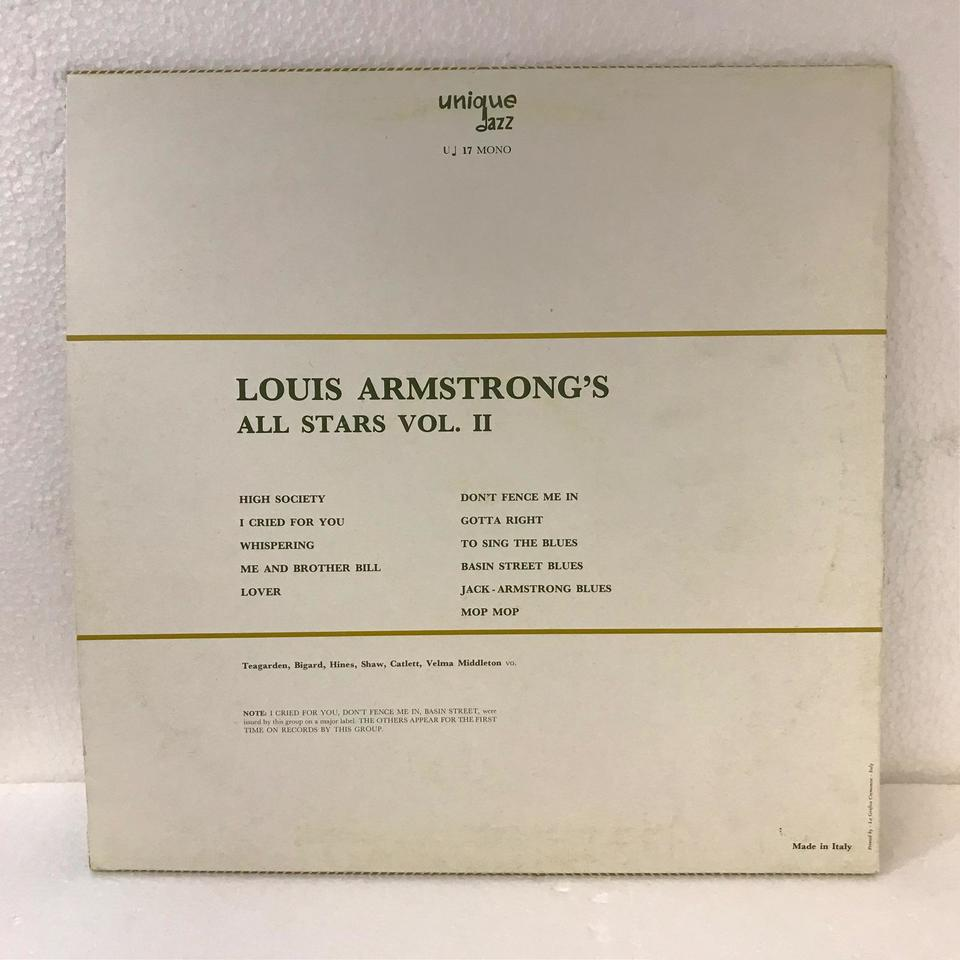 LOUIS ARMSTRONG'S ALL STARS VOL.2 LOUIS ARMSTRONG 画像