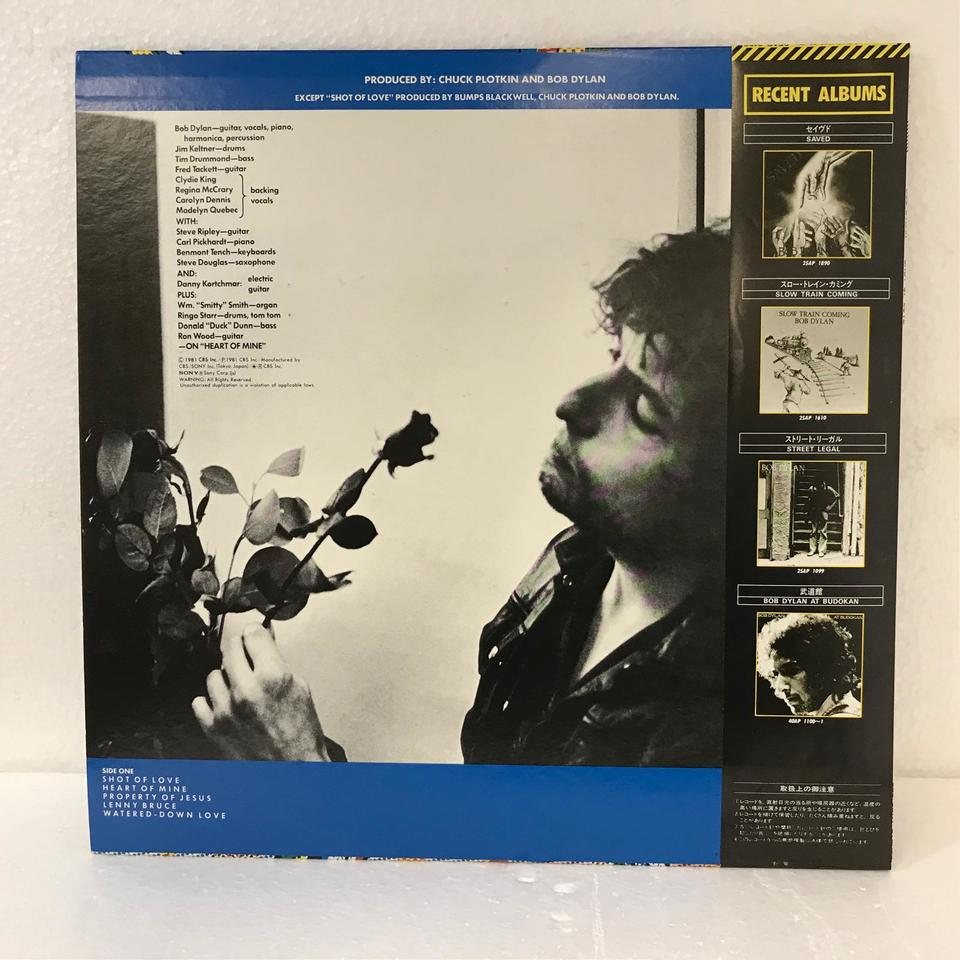 SHOT OF LOVE/BOB DYLAN BOB DYLAN 画像