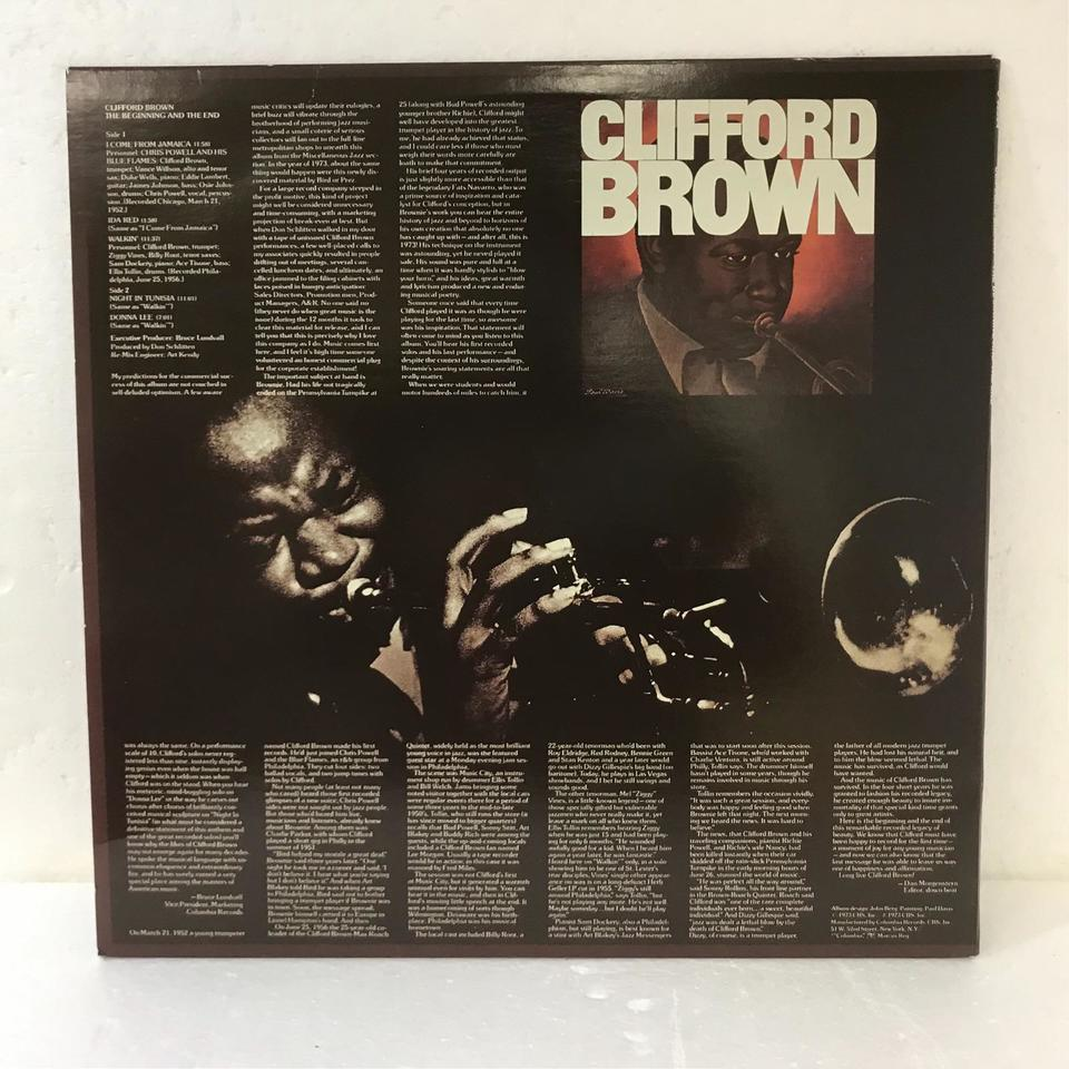 THE BEGINNING AND THE END/CLIFFORD BROWN CLIFFORD BROWN 画像