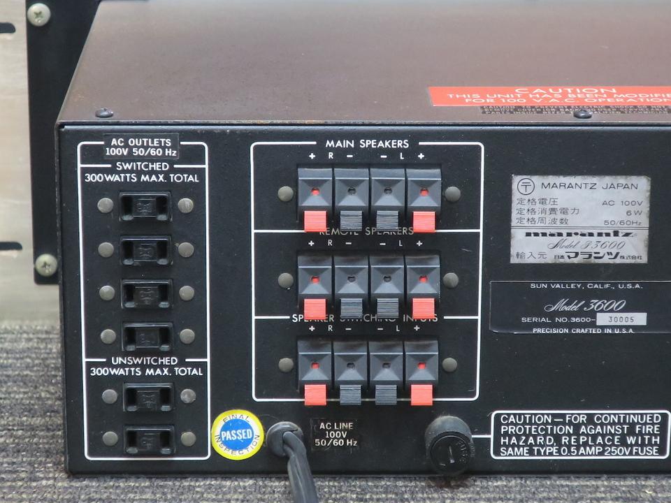 model P3600 marantz 画像