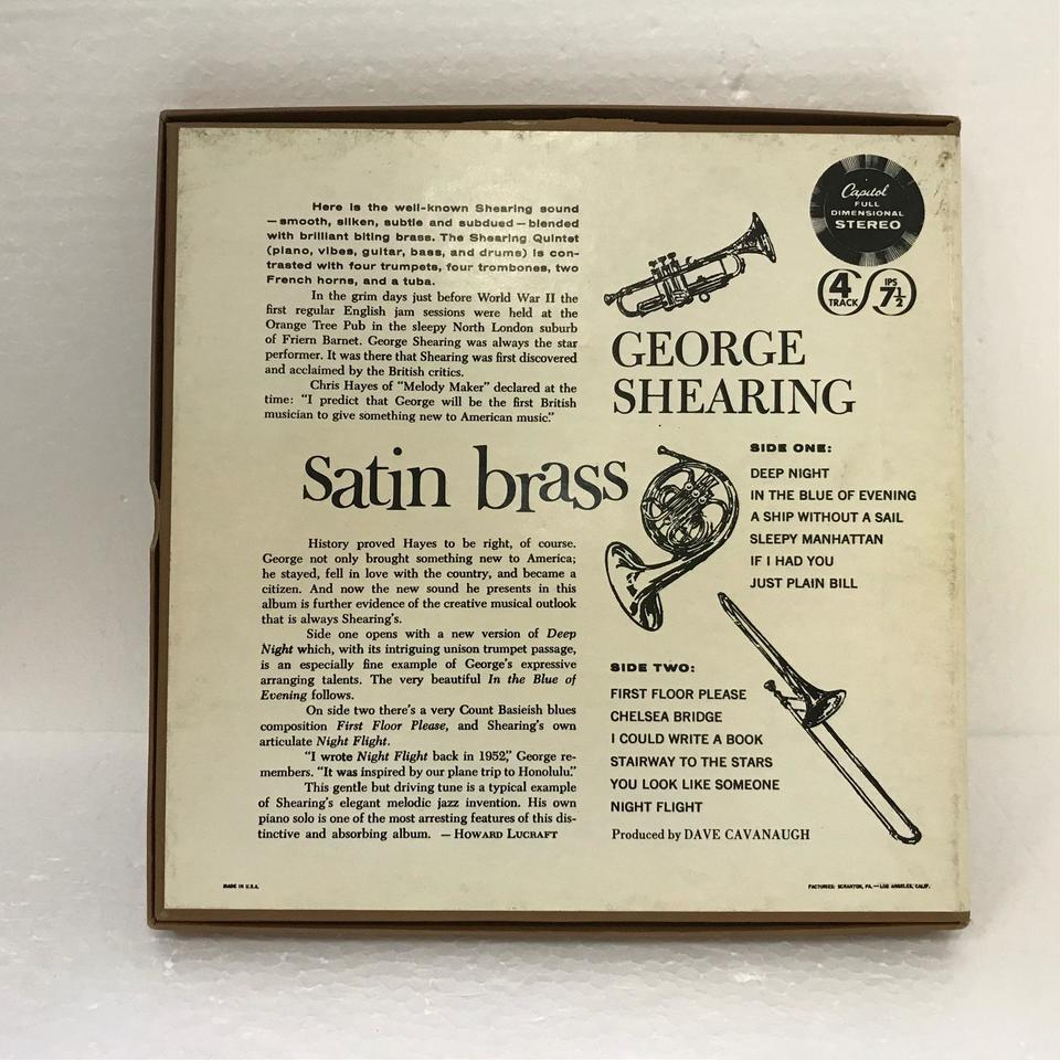 SATIN BRASS/GEORGE SHEARING GEORGE SHEARING 画像