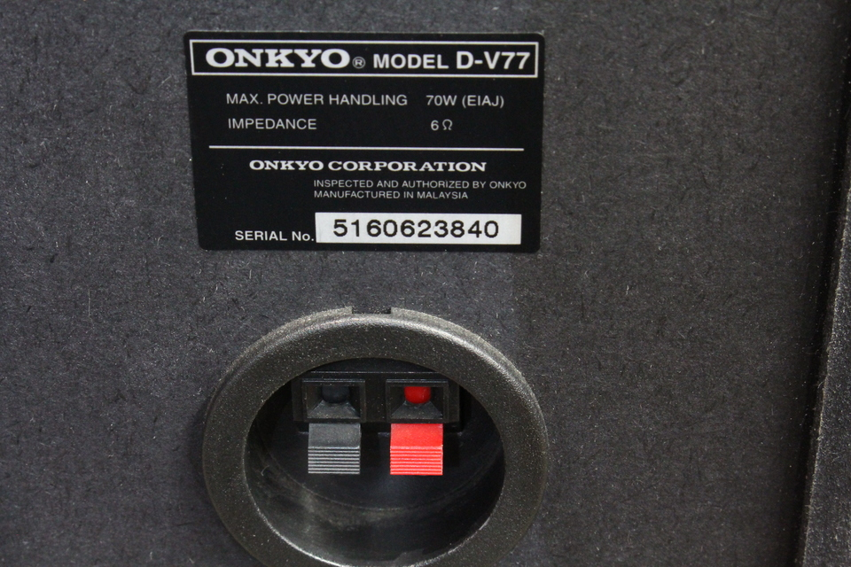 D-V77 ONKYO 画像