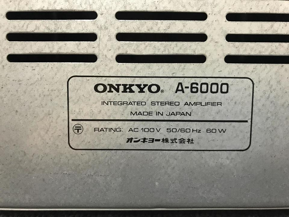 A-6000 ONKYO 画像
