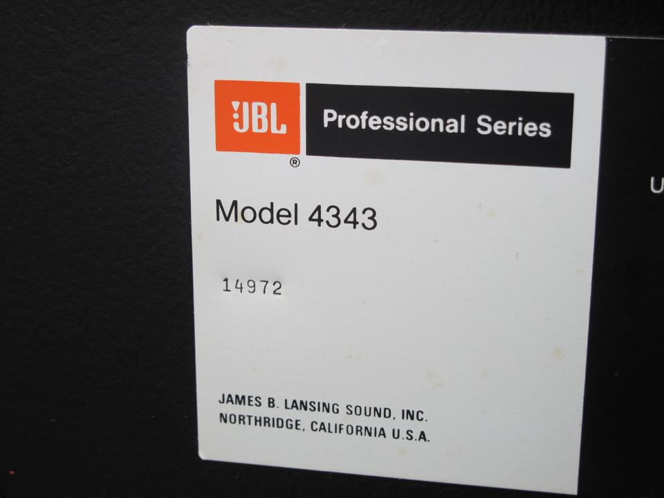 4343 JBL 画像