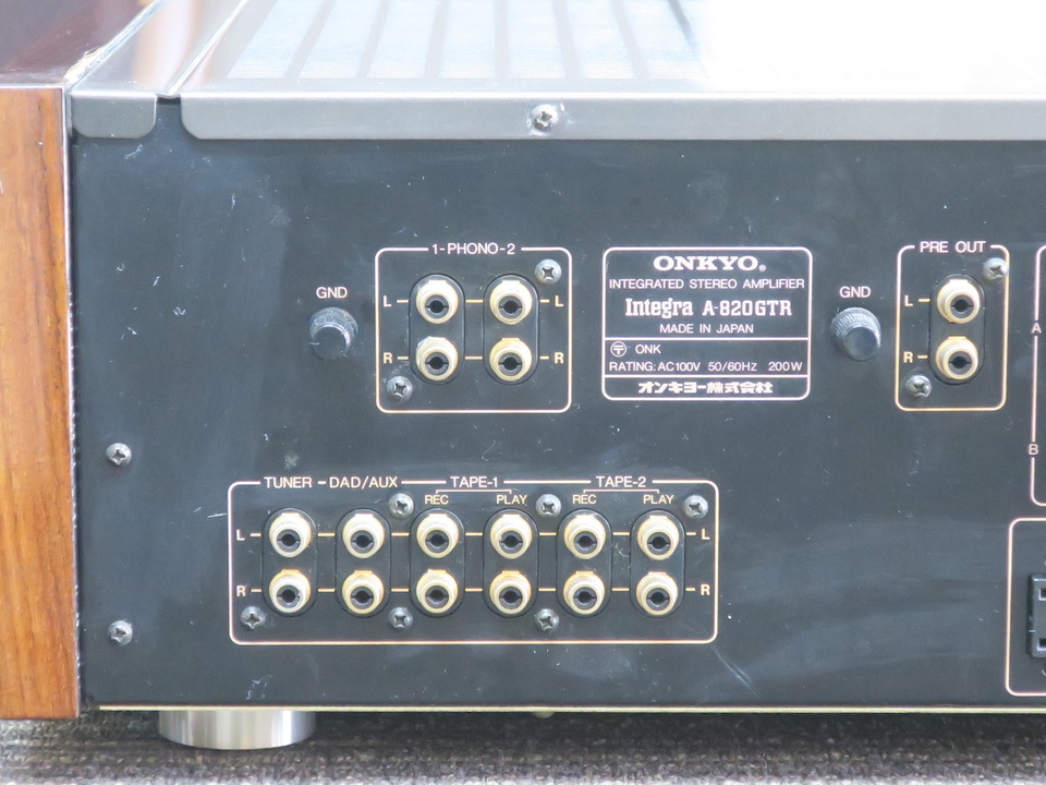 Integra A-820GTR ONKYO 画像