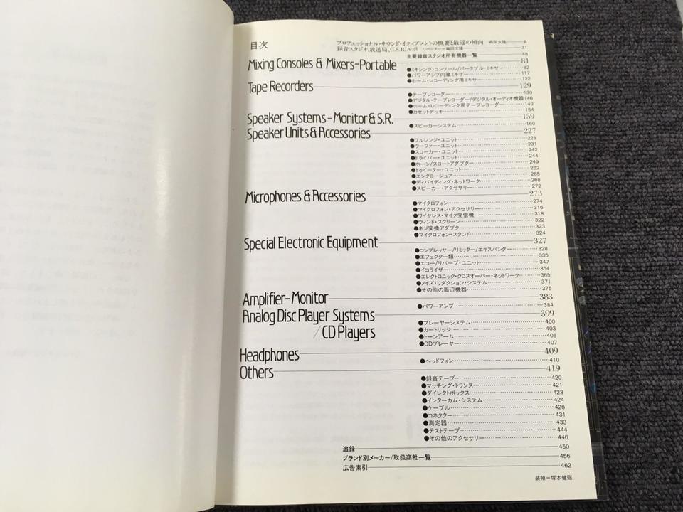 PROFESSIONAL SOUND EQUIPMENT 1984  画像