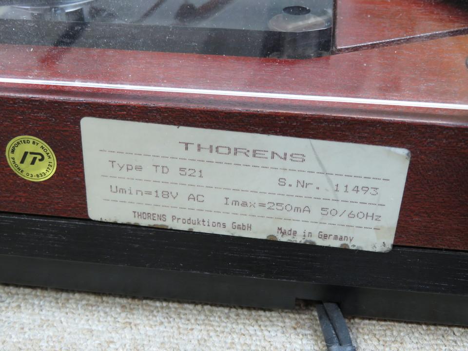TD-521SUPER+3012R THORENS 画像