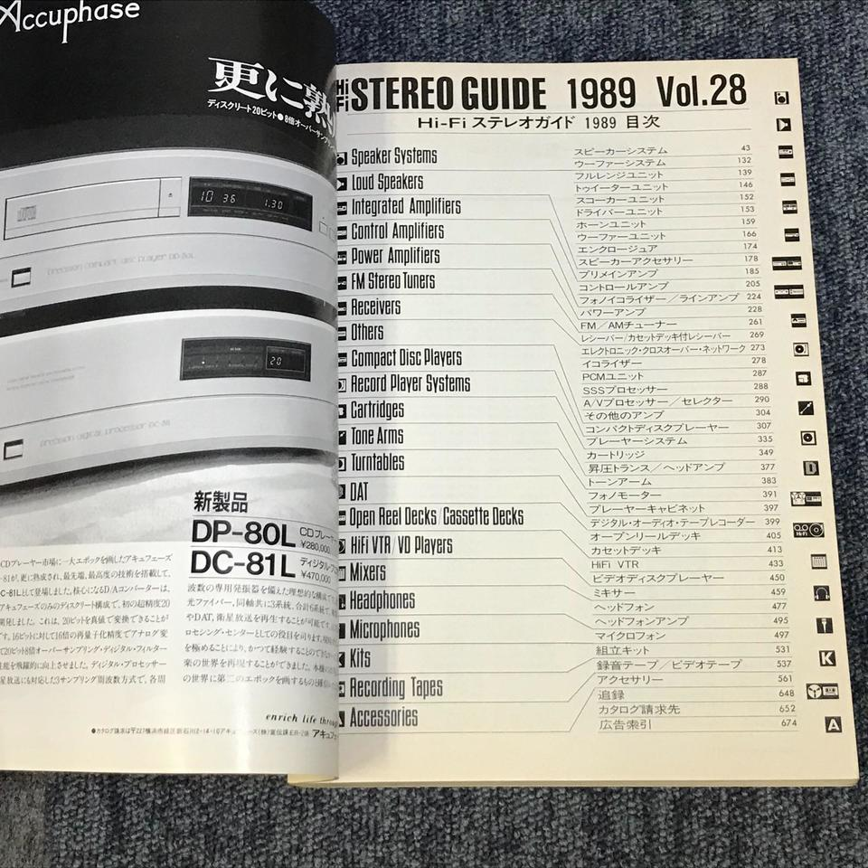 HI-FI STEREO GUIDE VOL.28 1989  画像