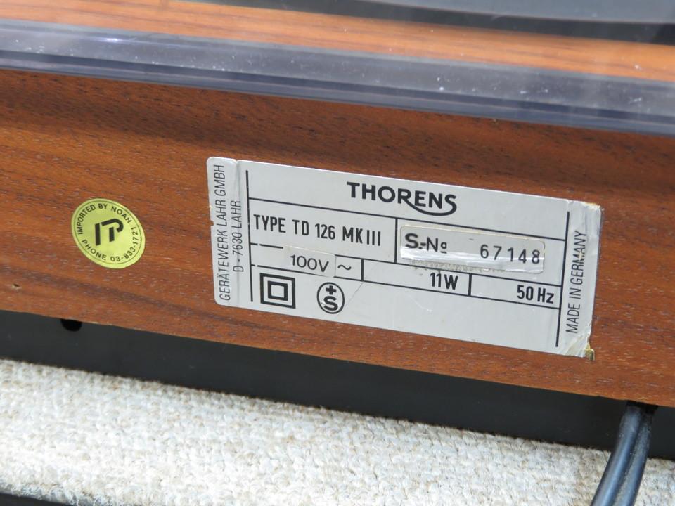 TD-126MK3 THORENS 画像