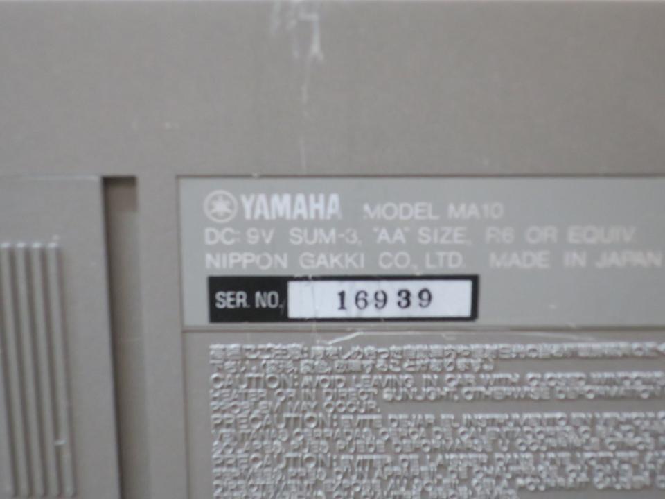 MA10 YAMAHA 画像