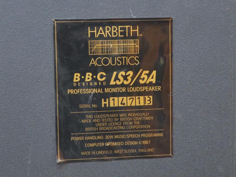 LS3/5A HARBETH 画像