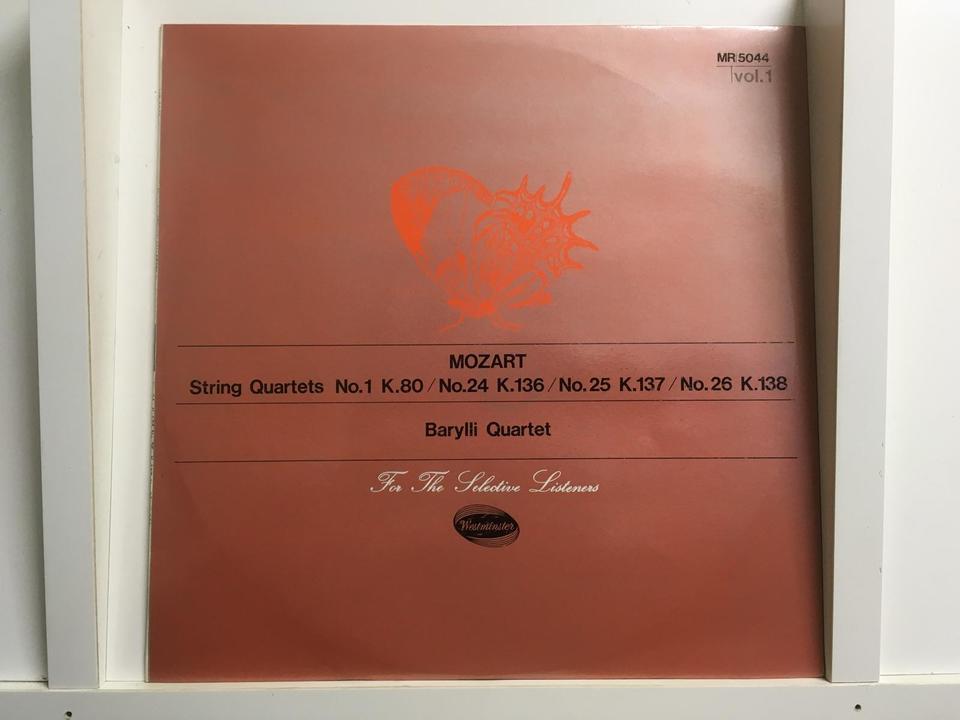 Westminster モーツァルト弦楽四重奏曲(ペラジャケ)5枚セット  画像