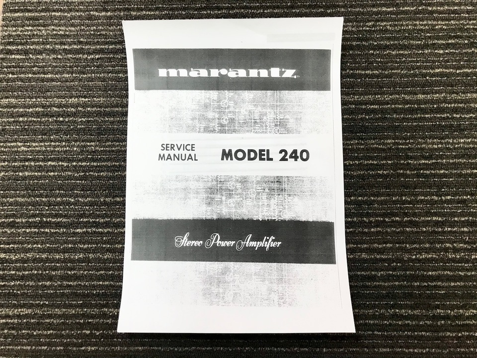 MODEL 240 marantz 画像