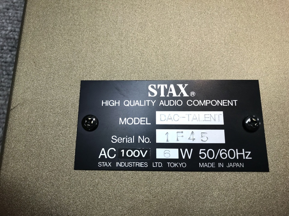 DAC-TALENT STAX 画像
