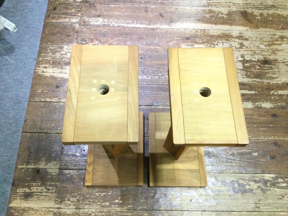 木製スピーカースタンド 自作 画像
