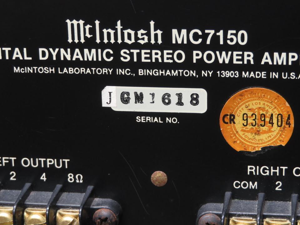 MC7150 McIntosh 画像