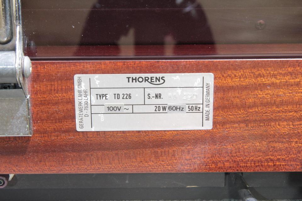 TD-226 THORENS 画像