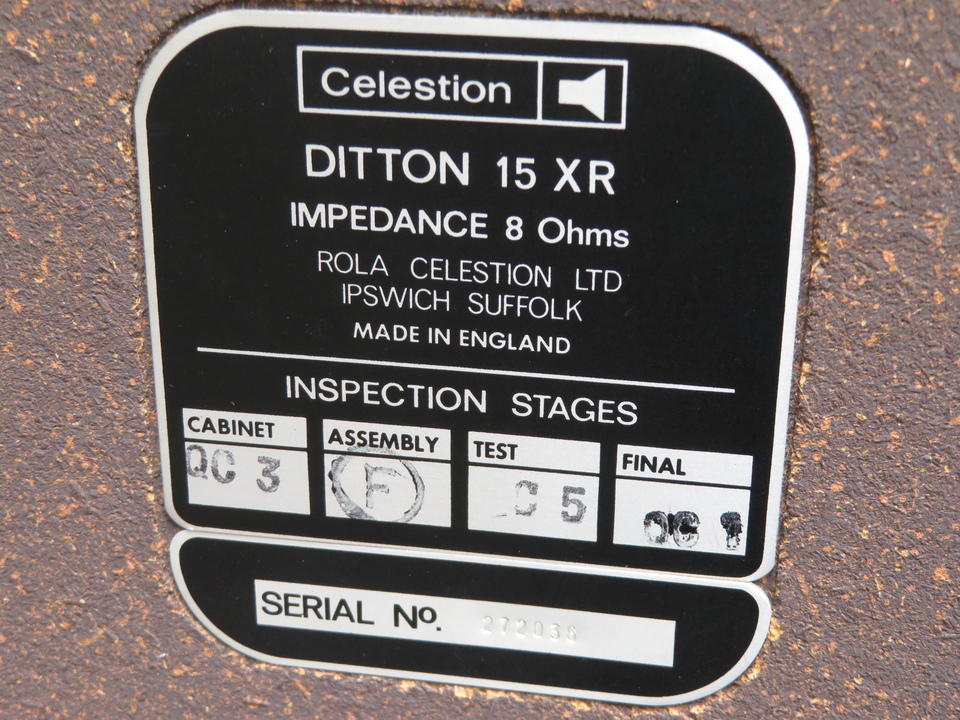 DITTON 15XR CELESTION 画像